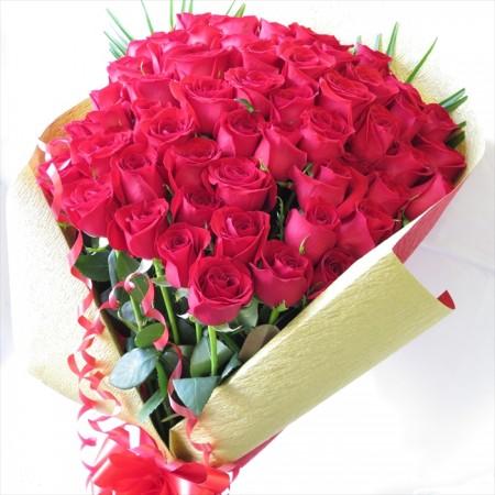 赤いバラの花束60本