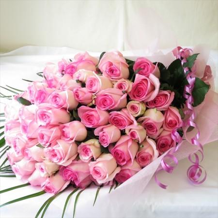 おしゃれなバラ花束60本